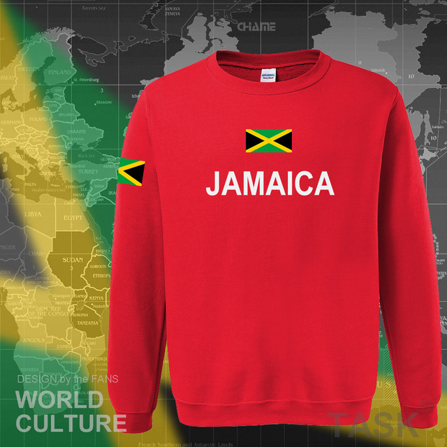 Jamaica hoodie men sweatshirt sweat new hip hop streetwear tracksuit nation footballer sporting country new flag JAM Jamaican 3