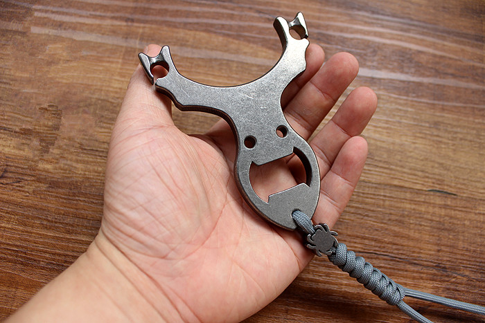 TC4 Titanium Production Line Cutting CNC Metal Slingshot EDC Multi Tools in Screwdriver from Tools