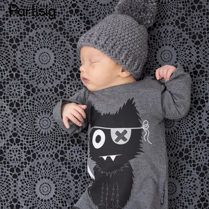 Brand Baby Rompers Cartoon Little Monster Baby Boy Romper Cotton Spring Long Sleeve Jumpsuit Clothing Roupa De Bebe ...