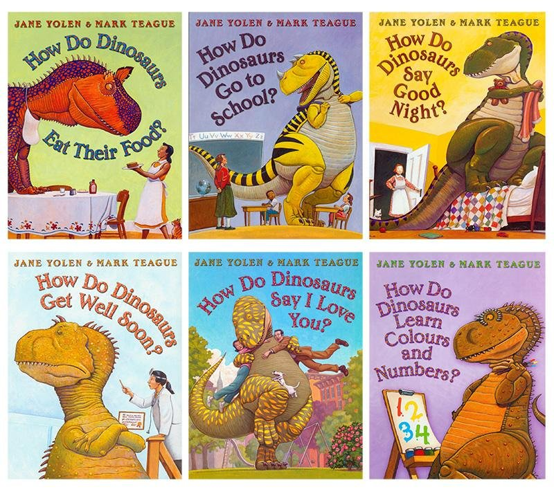 6pcs/lot Hot Children Educational English Book How Do Dinosaurs Books For Primary School Students English Story Books