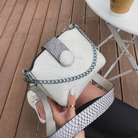 Luxury Women PU Leather Handbags High Quality Chain Messenger Bags Women's Designer Luxury Bags 2019 Simple Lady Shoulder Bag