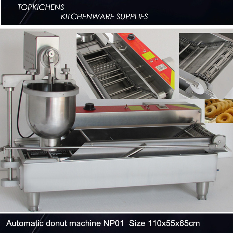 Commerical Automatic donut machine_Donut maker_Donut making machine NP1 productivity 850 1200pcs hours three sizes industrial automatic donut making machines
