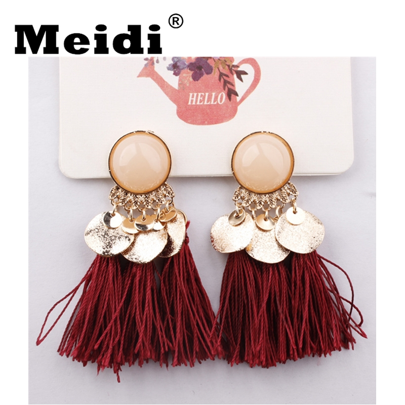 Tassel Earrings for Women oorbellen Fashion Boho Jewelry Alloy Resin  Earrings Long Kupe pendientes mujer moda 2018 New Arrivals ...