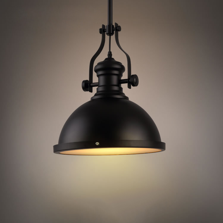 Black industrial mining model vintage pendant pendant for Hanging light fixtures for dining room