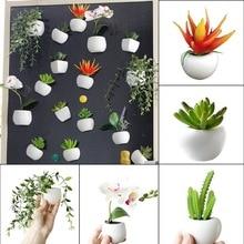3d Fridge Sticker Magnetic Succulent Plant Fridge Magnet Sticker Bouquet Flower Fridge Potted Plant Sticker For Home Wall Decor