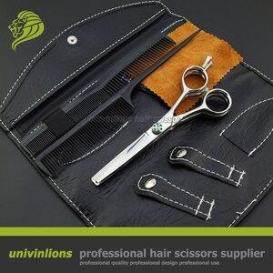 "Image 5 - 5.5"" VG10 multi blade scissors barber double thinning shear professional japan hair scissors hairdressing scissors hairdresser"