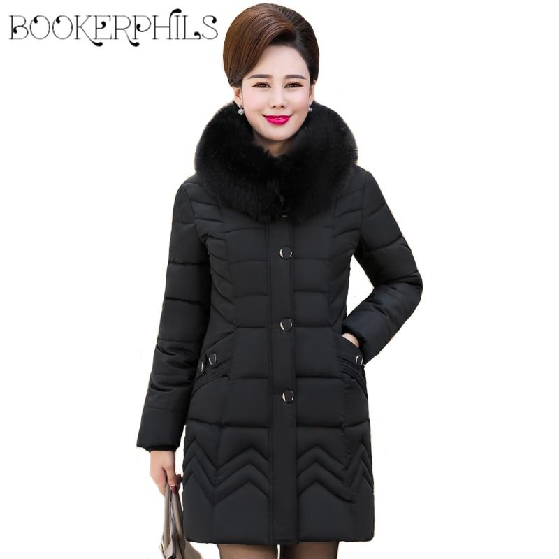 2018 New Female Jacket Coat Winter Autumn Fur Cotton Down Jacket Women Hooded Plus Size 4XL Solid Warm Long   Parka   Women Clothing