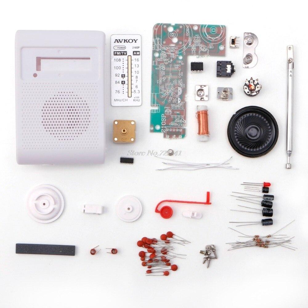 Leory 1 Pc Fm Radio Diy Kit Elektronische Montieren Set Kit Für Learner Broadcast Radio Satz Training Diy Dropship Radio