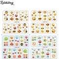 Rolabling Lovely emoji smile&fish nail sticker cartoon water transfer nail sticker on nails sticker art foe cheap nail decals