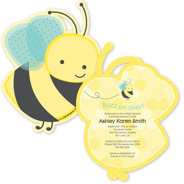 12PCS Honey Bee Invitations Personalized Baby Shower Birthday Or Grandma To BEE Party Invites
