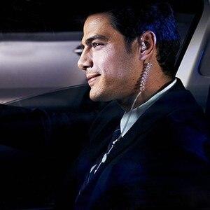 Image 5 - ユニバーサルソフト 3.5 ミリメートルエアチューブで耳モノラル弾性柔軟な電話イヤホン抗放射線スパイイヤホンとマイク