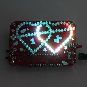 Image 3 - Eletrônico criativo diy kit rgb led duplo coração em forma de música de luz com kit de concha electronique colorido diy kit eletrônico