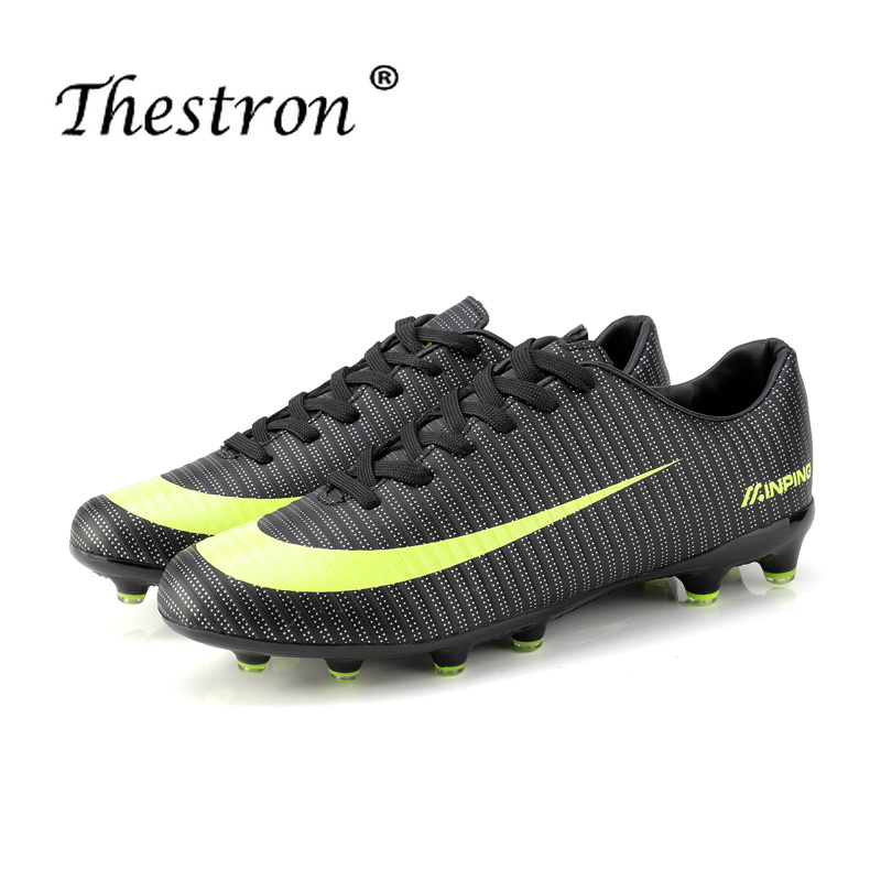2018 New Men Teens Soccer Cleats Turf Football Soccer Shoes Hard Court Sneakers Trainers New Design Football Boots Size 36 44 in Soccer Shoes from Sports Entertainment