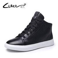 Лижэнь женские туфли из натуральной кожи на плоской подошве Удобные Обувь с дышащей сеткой на шнуровке высокая обувь Женская обувь, размеры