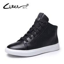 цены на Liren Genuine Leather Women Flats Shoes Comfortable Breathable Mesh Lace Up High Shoes Woman Size 34-40  в интернет-магазинах