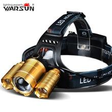 Warsun XML T6 1600lm фары 4 режима Lanterna LED лампе Фронтале Фара Открытый Camping Факел глава Light 18650 Батарея