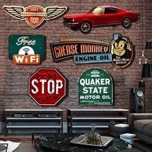 Irregular sombra Vintage señal metal lata placa para Bar casa café Loft restaurante decoración de hogar para colgar en la pared arte Retro pegatina Poste