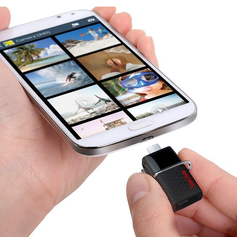 100% Оригинал SanDisk Ultra Dual OTG USB 3.0 Pen Drive sddd2 130 м/с 16 ГБ 32 ГБ 64 ГБ 128 ГБ карту флэш-памяти с интерфейсом USB для телефона Android/PC