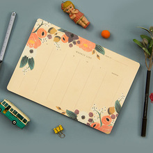 Weekly Paper Cute Planner Notebook School Stationery Store Agenda Diary Note Book Travel Journal Week Desk Accessory to do list