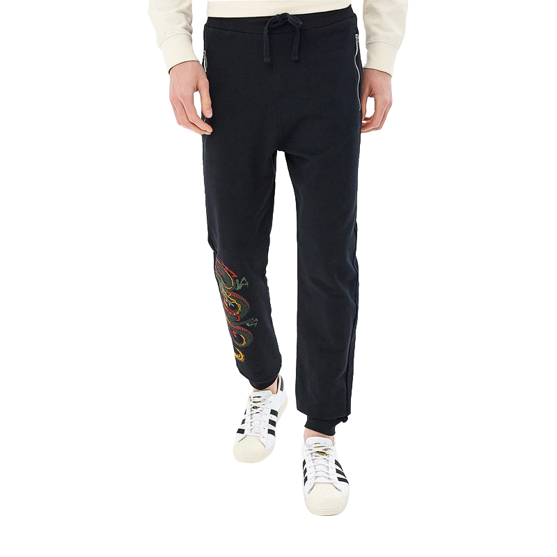 Pants MODIS M181M00206 trousers for male TmallFS 2017 summer male dark grey jeans male slim skinny vintage long trousers boys