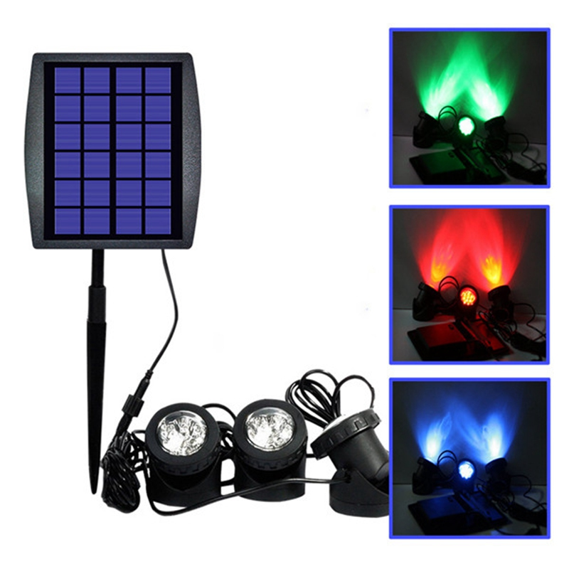 цены  Waterproof IP68 LED Solar Powered RGB Landscape Spotlight Solar Light Outdoor Security Night Light Fish Tank Lamp 6V