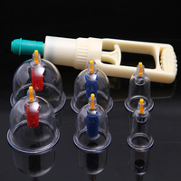 Body Massage Vacuum Cupping Set Chinese Medicine Cupping Thicker Magnetic Aspirating Cupping Can Acupuncture Massage Suction