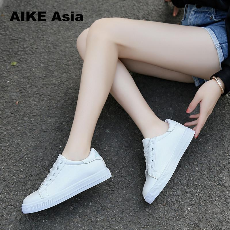2018 Fashion Canvas Shoes Women Vulcanization Shoes Brand Woman Breathable Casual Flats white Shoes Sneakers  Women