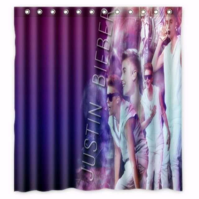 66 X72 Inch Justin Bieber Shower Curtain Waterproof Fabric