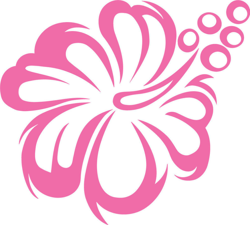 Hibiscus flower car vinyl sticker wall home decor glass decal wall hibiscus flower car vinyl sticker wall home decor glass decal wall stickers flower removable inspirational decals quotes la075 in wall stickers from home izmirmasajfo
