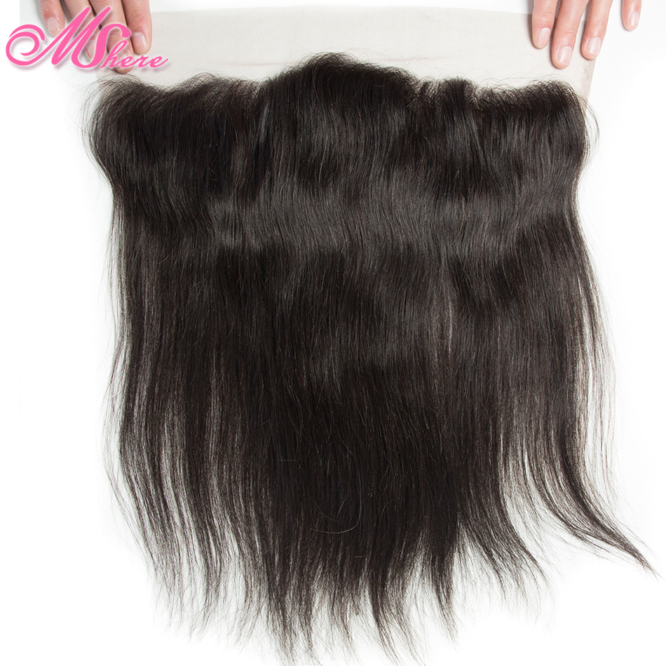 Pre plucked 13 4 Ear To Ear Lace Frontal With Baby Hair Indian Straight Hair Remy