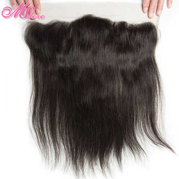 Pre-plucked 13*4 Ear To Ear Lace Frontal With Baby Hair Indian Straight Hair Remy Hair 1b# Mshere Human Hair Swiss Lace Closure - DISCOUNT ITEM  49% OFF All Category