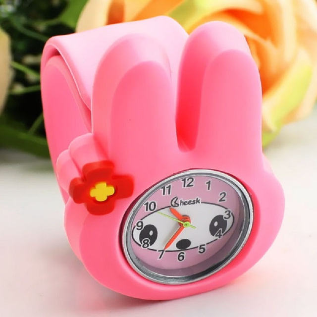 2018 New Animal Cute Bunny Pattern Girl Student Birthday Gift Silicone Watch Cartoon Q Children Jelly Color Beautiful Pat Table