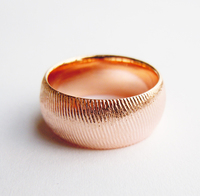 8mm 925Sterling Silver Plain Band Ring W Rose Gold Plated Handmade All Size