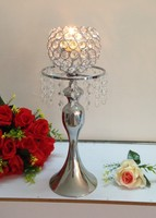 Candle Wedding holder display with Crystal Wedding Candelabras Metal Candle Stand Holder Metal Flower Stand