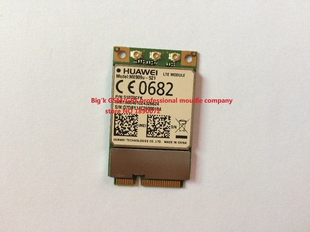 ME909U-521  4G 3G 100% NEW&Original Genuine Distributor Mini PCIe FDD LTE 4G WCDMA  GSM  Support GPS Module Free Shipping