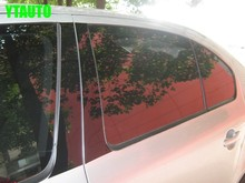 Auto middle window trims B C pillar sticker for Skoda Octavia A5 A7 ,6pcs/set,,car exterior decoration accessories