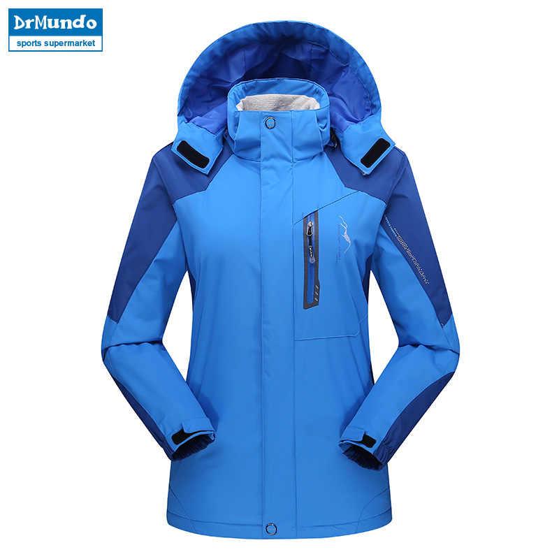Frauen ski jacke Berg Verdicken Plus Größe Fleece Ski-tragen Wasserdicht Wandern Im Freien Snowboard Jacke Weibliche Schnee Jacke