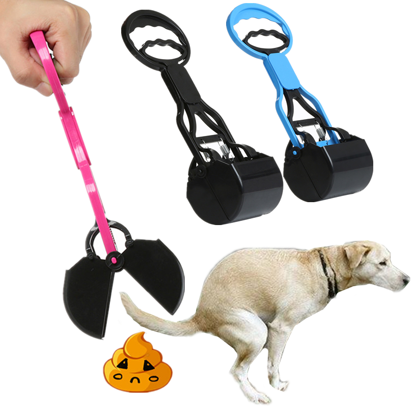 Long Handle Pet Pooper Scooper Jaw Poop Scoop Clean Pick Up Animal Waste Puppy Dog Cat Waste Picker Cleaning Tools #F#40DC14