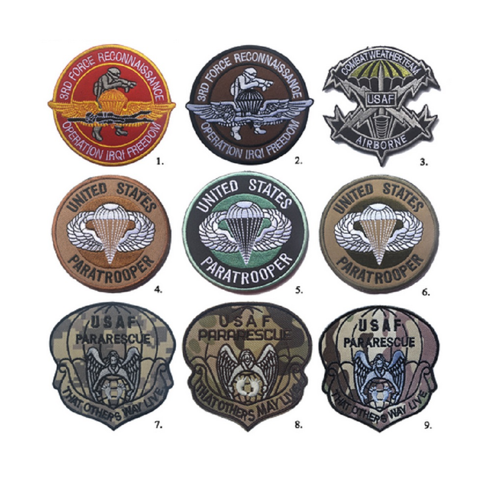 3D patches κέντημα Ηνωμένες Πολιτείες PARATROOPER / USAF μπαλώματα Αμερικάνικες καιρικές συνθήκες Corps patches Τρίτες δυνάμεις αναγνώρισης pacth