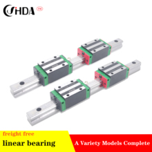 цена на freight free 2Pcs Linear guide + 4Pcs  linear sliders  HGH15CA or HGH15HA standard CNC parts