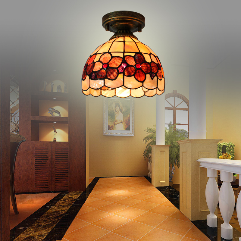8inch European Mediterranean shell ceiling lamps balcony aisle porch lamp window cloakroom ceiling lamps