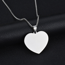 Romantic Heart Shaped Personalized Stainless Steel Pendant Necklace