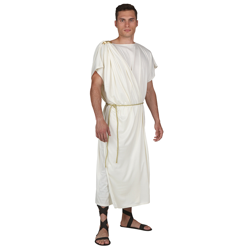 Adult Men Ancient Roma Toga Greek Philosopher Plato Aristotle Socrates Historical Dress Up Halloween Campus Bash Costume
