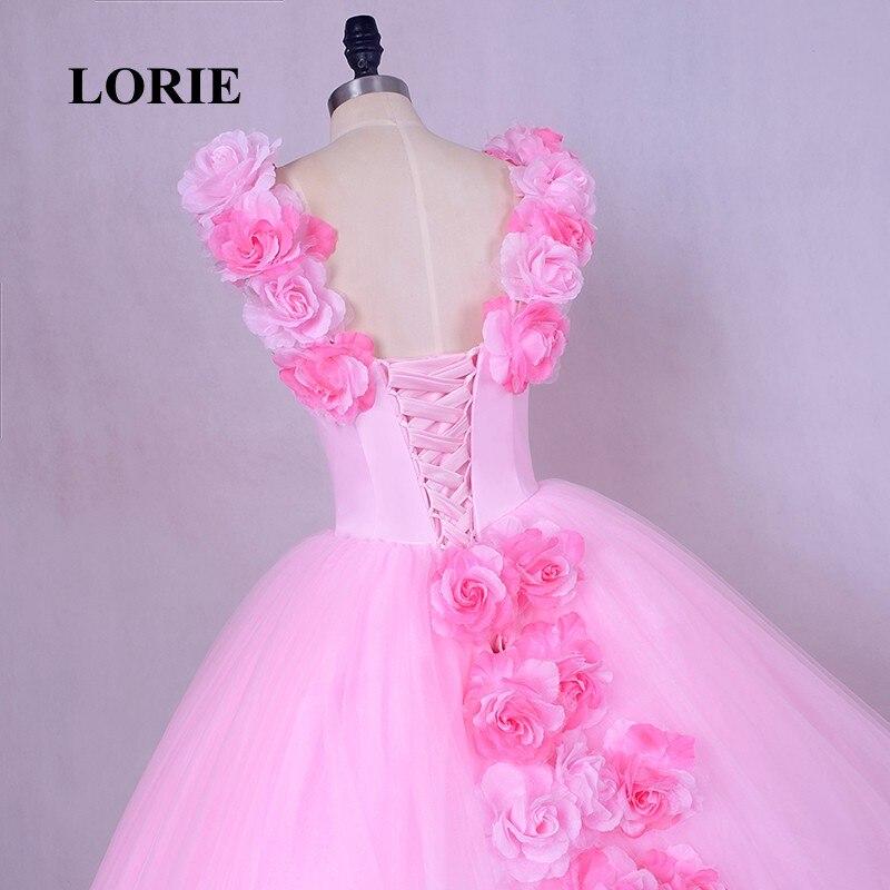 b4ef02e1d15 LORIE Rose nuage fleur Rose robes De mariée 2019 Long Tulle gonflé à volants  Robe De Mariage Robe De mariée nouvelle princesse Robe De mariée dans Robes  De ...