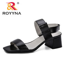 ROYYNA 2019 Womens Sandals Solid Casual Beach Sandals Female Open Toe Sandals Elastic Band Summer Shoes Sandalias Mujer Trendy summer open toe crystal women sandals pu leather ladies casual beach sandals elastic band simple shoes woman sandalias mujer