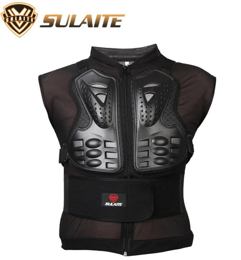 SULAITE Motorcycle Jacket Body Armor Motorcycle Motocross Moto Vest Back Chest Protector Off Road Dirt Bike Protective Gear