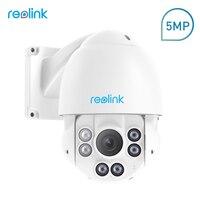 Reolink PTZ IP Caméra PoE 5MP 3072*1728 Pan/Tilt 4x Zoom Optique HD Extérieure Objectif Motorisé Sécurité Cam RLC-423-5MP