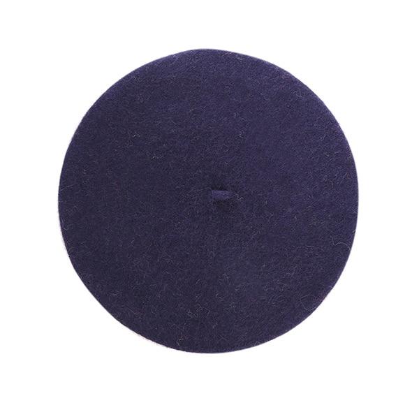 Winter Solid Knitted Hat Wool Beret Women Elengant Bone Cap Plain Warm Bonnet French Beret Soft Painter Hat