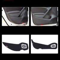4pcs Fabric Door Protection Mats Anti kick Decorative Pads For VW Golf 6 2010 2013