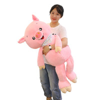 100cm Big Size plush toys Pink pig plush toy Stuffed plush animals Happy Pig Toys for Children Kids Kawaii Birthday Gift for Gir